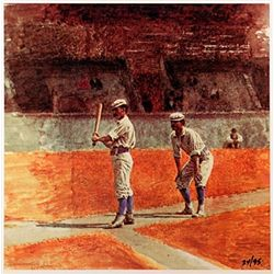 Thomas Eakins BASEBALL PLAYERS  Signed Limited Ed. Lithograph