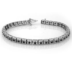 Natural 1.0 ctw Black Diamond Bracelet 10K White Gold