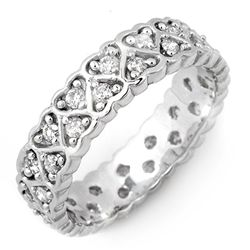 Natural 1.0 ctw Diamond Eternity Ring 10K White Gold
