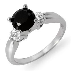 Natural 1.65 ctw White & Black Diamond Ring 14K Gold