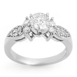 Natural 1.07 ctw Diamond Ring 14K White Gold