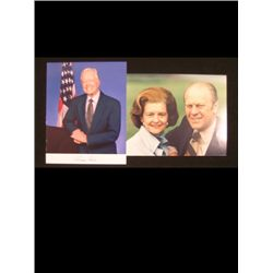 President & Betty Ford with Signed Jimmy Carter Photos