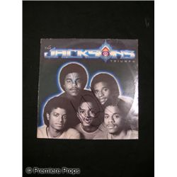 Michael Jackson Signed 'Triumph' LP Cover