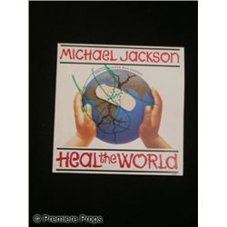 Michael Jackson Signed 'Heal The World' Record