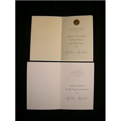 George W. Bush Signed Cards