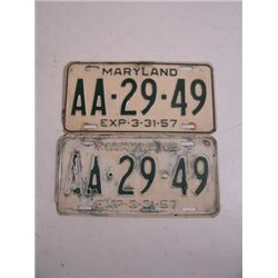 Blues Brothers Maryland Plates