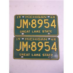 Blues Brothers Michigan Plates