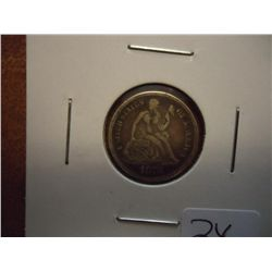 1876 SEATED LIBERTY DIME (EXTRA FINE)