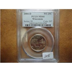 2004-D WISCONSIN QUARTER PCGS MS66