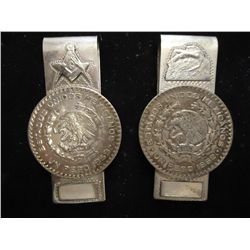 2- MONEY CLIPS MADE FROM MEXICAN PESOS