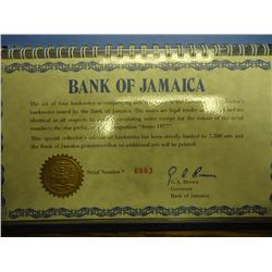 1977 BANK OF JAMAICA 4 BANK NOTE SET