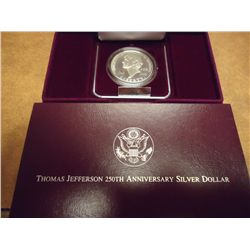 1993 THOMAS JEFFERSON PF SILVER DOLLAR