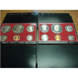 1976 & 77 US PROOF SETS (WITH BOXES)