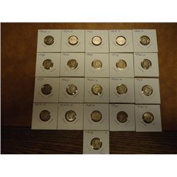 21 ASSORTED MERCURY DIMES 1916 AND UP