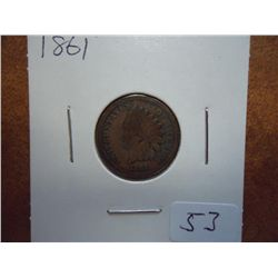 1861 INDIAN HEAD CENT