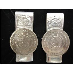 2 MONEY CLIPS MADE WITH MEXICAN PESOS