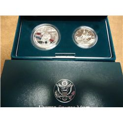 1992 COLUMBUS QUINCENTENARY 2 COIN PF SET