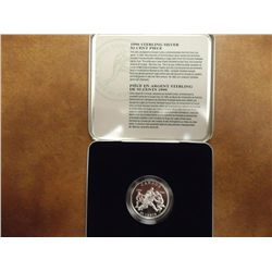 1999 CANADA STERLING SILVER 50 CENTS FOOTBALL