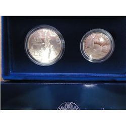 1986 US LIBERTY 2 COIN PROOF SET