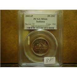 2002-P INDIANA QUARTER PCGS MS66