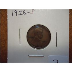 1926-S LINCOLN CENT (VERY GOOD)