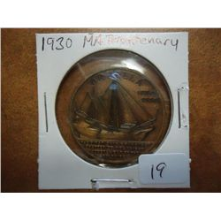 1930 MASSACHUSETTS TERCENTENARY TOKEN AU