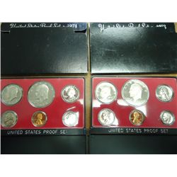 1973 & 74 US PROOF SETS (WITH BOXES)