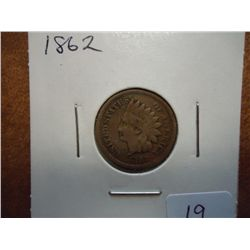 1862 INDIAN HEAD CENT (VERY GOOD)