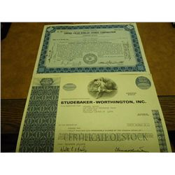 2 VINTAGE STOCK CERTIFICATES SEE DESCRIPTION