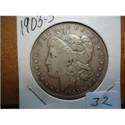 1903-S MORGAN SILVER DOLLAR (BETTER DATE)