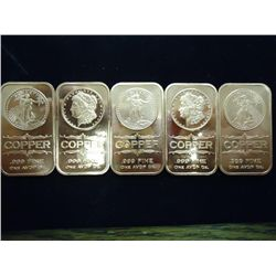 5-1 OUNCE ADVP COPPER INGOTS