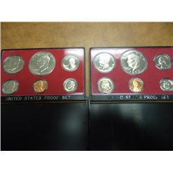 1973 & 75 US PROOF SET (WITH NO BOXES)