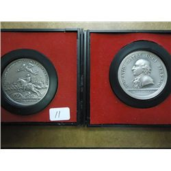 2 US MINT SET AMERICAS 1ST MEDALS BOTH PEWTER