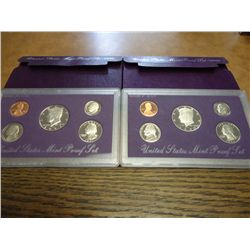 1990 & 91 US PROOF SETS (WITH BOXES)