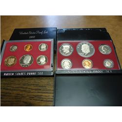 1975 & 82 US PROOF SETS (WITH BOXES)