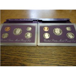 1992 & 93 US PROOF SETS (WITH BOXES)