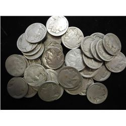 ROLL OF 40 UNDATED BUFFALO NICKELS