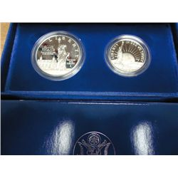 1986-S US LIBERTY 2 COIN PROOF SET