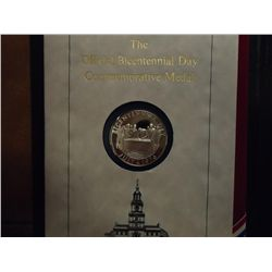 OFFICIAL BICENTENNIAL DAY COMMEMORATIVE SILVER