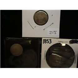 1841,45 & 53 SEATED LIBERTY DIMES
