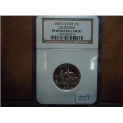 2005-S SILVER CALIFORNIA QUARTER NGC PF69 ULTRACAM