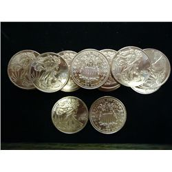 25-1/4 OUNCE ADVP COPPER ROUNDS