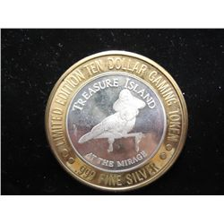 MIRAGE CASINO $10 SILVER TOKEN (UNC)