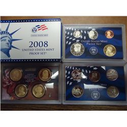 2008 US PROOF SET (WITH BOX) 14 COINS