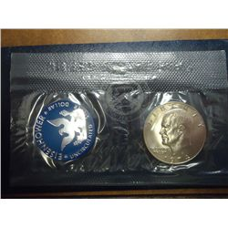 1974-S IKE SILVER DOLLAR UNC (BLUE PACK)