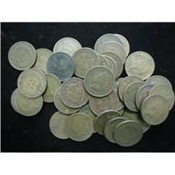 40 ASSORTED INDIAN HEAD CENTS