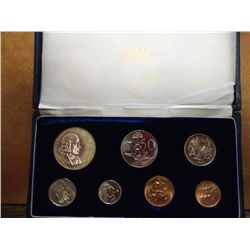 1966 SOUTH AFRICAN 7 COIN PROOF SET