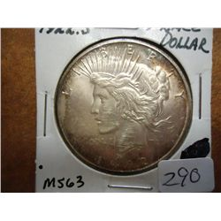 1922-S PEACE SILVER DOLLAR MS63