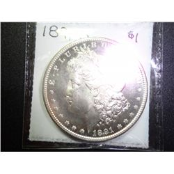 1891-S MORGAN SILVER DOLLAR MS-65 DMPL