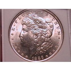 1886 Morgan Dollar MS66 Graded SGS